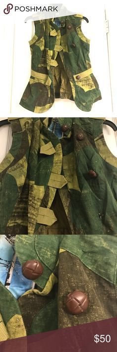 LAMB Camo Vest Camo vest. You can really see and feel the quality in this piece. Beautiful on. LAMB Tops