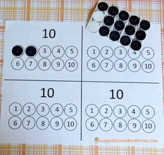 Ten Black Dots Number Matching - practice number recognition, counting, and one to one correspondence after reading Ten Black Dots by Donald Crews