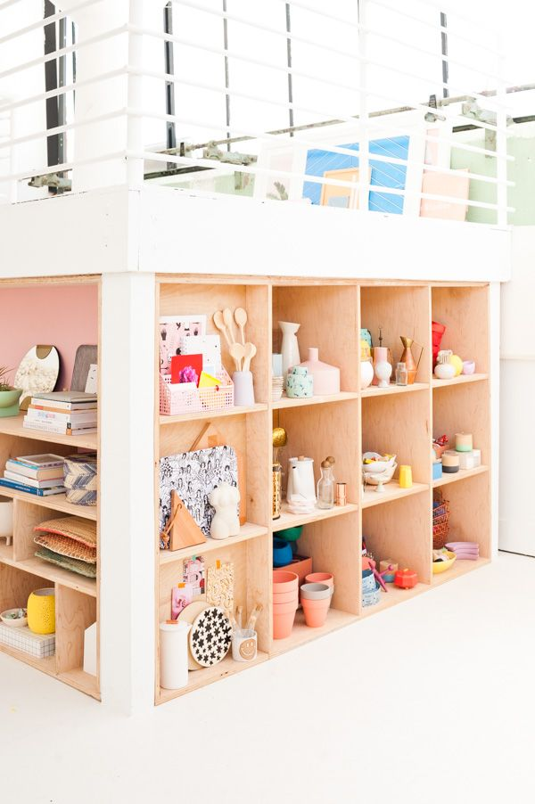 How to Create Modern Plywood Shelving Organization