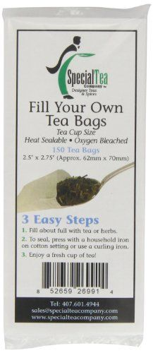Special Tea Company Empty Tea Bags, 2.5 Inch x 2.75 Inch, 150 Count *** You can get additional details at the image link.