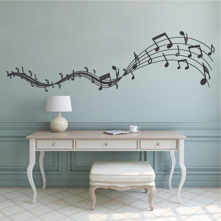Superbe Music Melody Wall Decal, Musicians Wall Art, Removable Music Wall Decals, Music  Wall