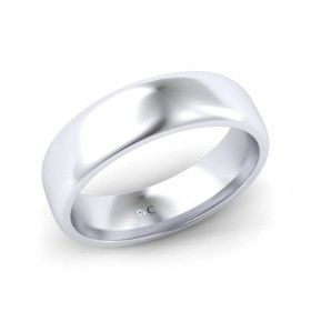 18K White Gold Mens Wedding Ring | Diamond Corporation South Africa
