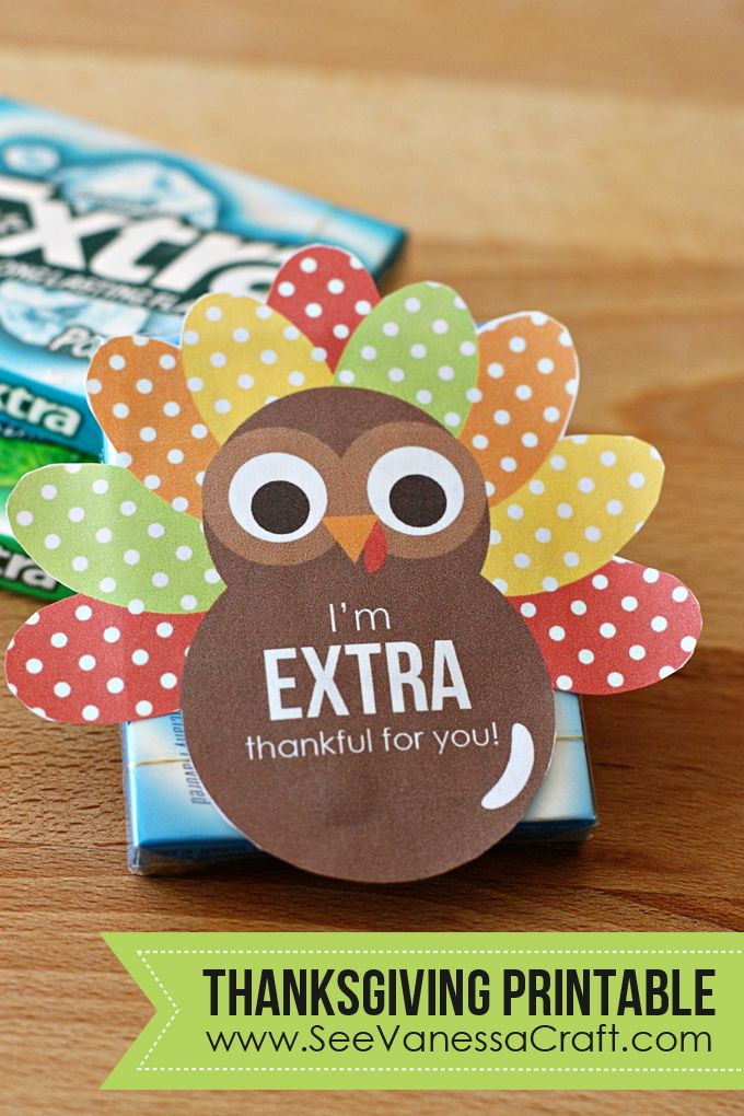 (printable) extra gum thankgiving gift
