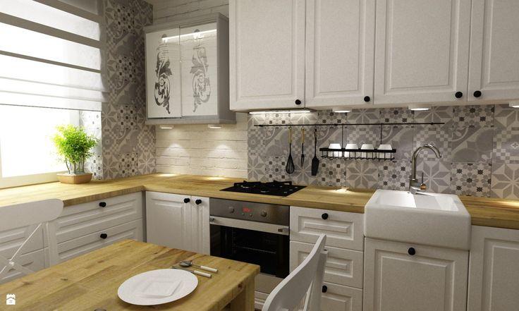 Kuchnia styl Prowansalski - zdjęcie od Grafika i Projekt ...