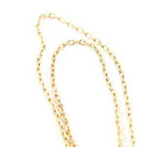 """Ankle chain """"Forçat"""" 25 cm (9. 84'') 1. 2 mm (0. 05''). Les Tresors de Lily. $22.00"""