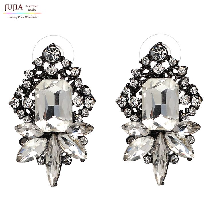 Factory Price Wholesale full crystal New statement water drop fashion crystal Drop Earrings