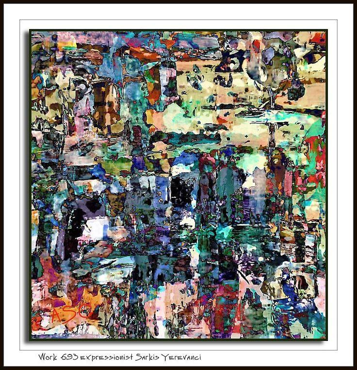 Work № 693 expressionist Sarkis Yerevanci - Изобразительное искусство - Масло…
