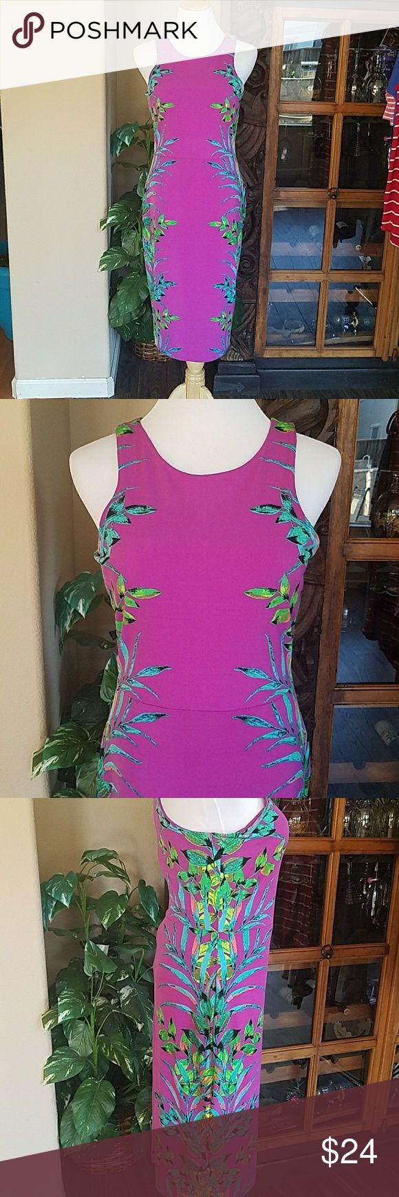 Nicole Miller dress Nicole by nicole miller purple witj gorgeous leaf print.  Perfect for wedding guest or any party.  Size Small.   Could fit to size 6 or 8 imo. INCREDIBLE deal for the price. Nicole by Nicole Miller Dresses Midi