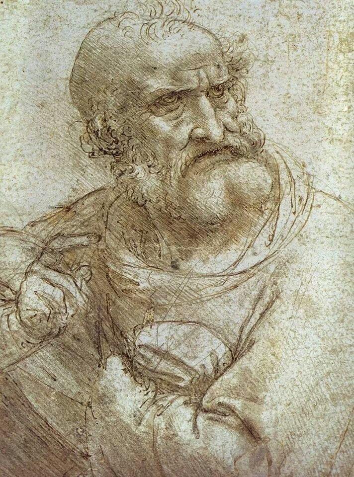 Leonardo da Vinci - Study for The Last Supper c. 1495
