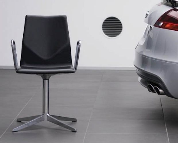 FourCast Evo Armchair with Glides, Fully Upholstered.