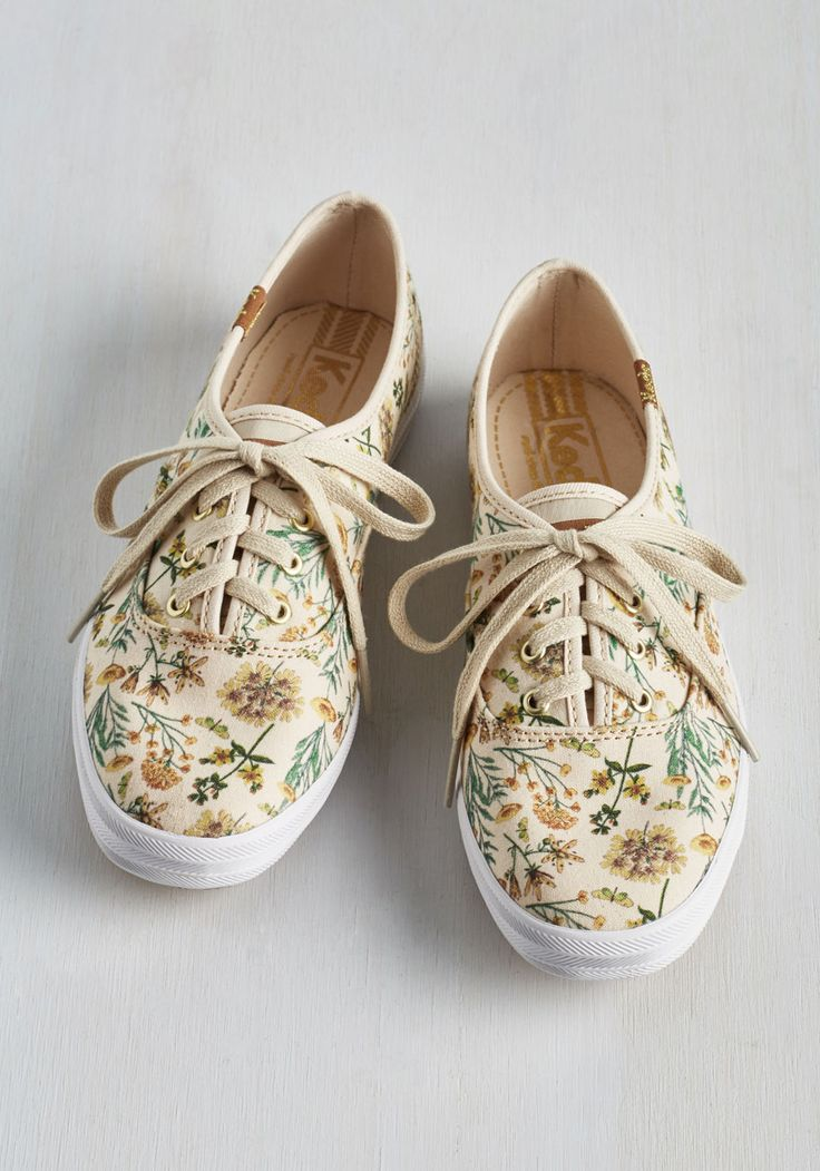 Wild Wanderer Sneaker. With no destination in mind, you sneak your toes into these neutral canvas Keds and tiptoe out the door. #tan #modcloth