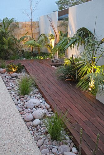 Landscape Tropical Style Design, Pictures, Remodel, Decor and Ideas >>>>>good idea of how I'd like HPG deck to look!