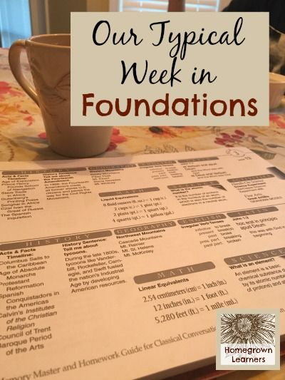 A Typical Week in Foundations - Home - Homegrown Learners
