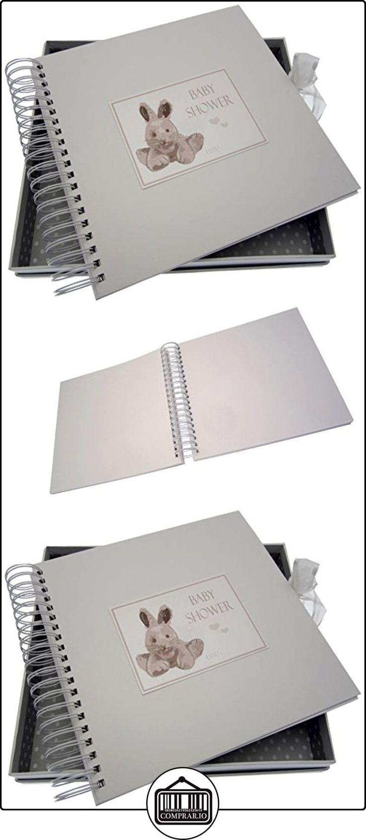 Tarjeta de la ducha tarjetas blancas de algodón para bebés y Memory Book (plata conejito)  ✿ Regalos para recién nacidos - Bebes ✿