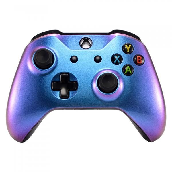 Purple And Blue Chameleon Front Housing Shell Faceplate For Microsoft Xbox One X One S Controller Sxofp01 Custom Xbox One Controller Xbox One Controller Xbox One