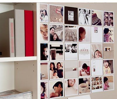 DIY Photo Wall: Love this!