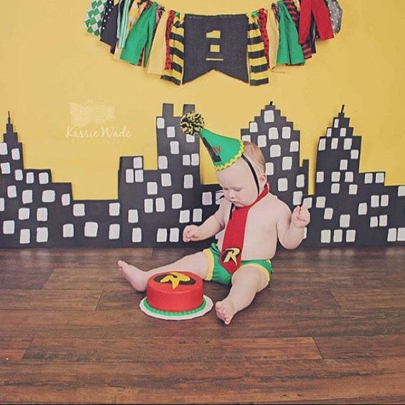 boy cake smash outfit  first birthday outfit Robin by SMPstore