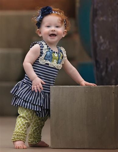 Baby by Persnickety Clothing Alpine Daisy Lou Lou Dress in Navy Stripe Spring 2015 Delivery 4