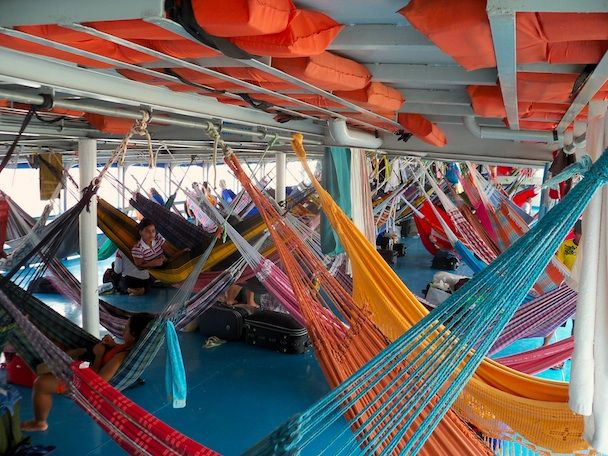 The Amazon River - String up a hammock on a slow boat between Manaus and Belém in Brazil or Trinidad and Guayaramerín in Bolivia