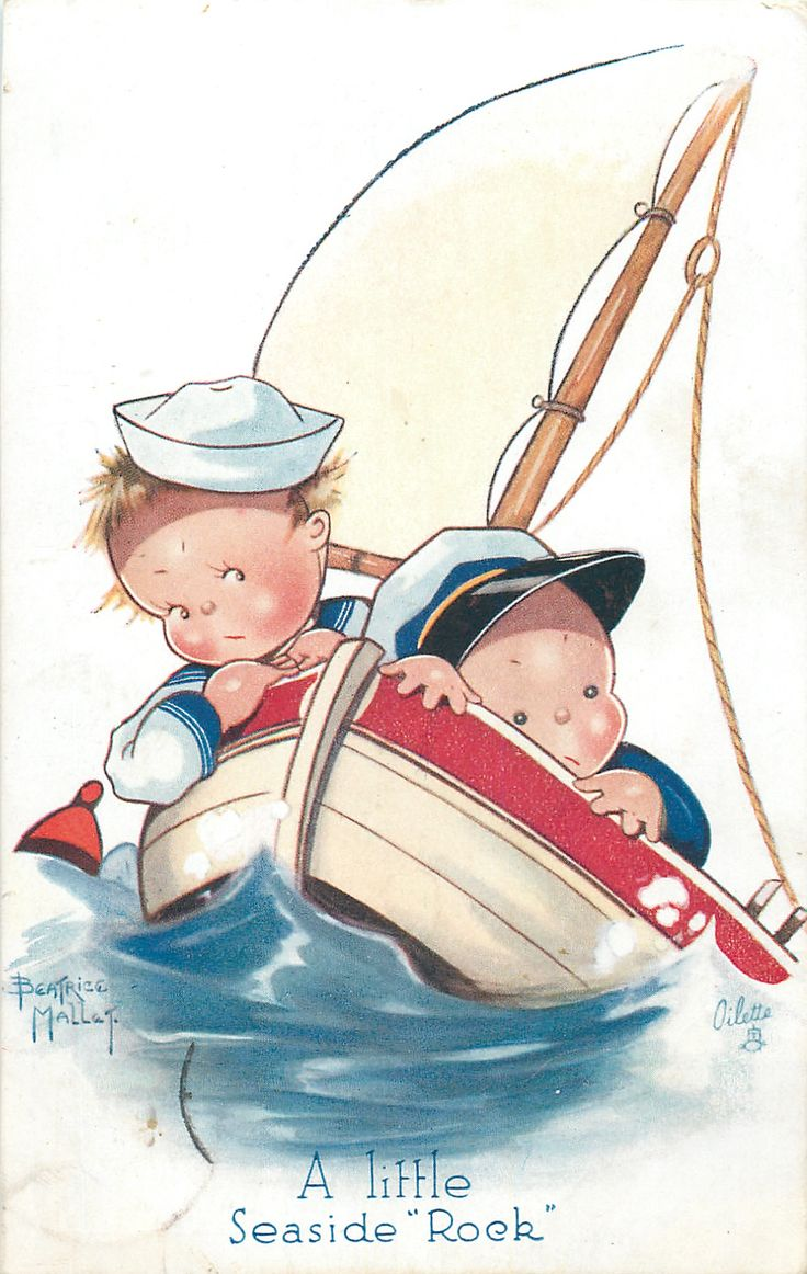 """A LITTLE SEASIDE """"ROCK""""  couple in a sailboat on a rough sea"""