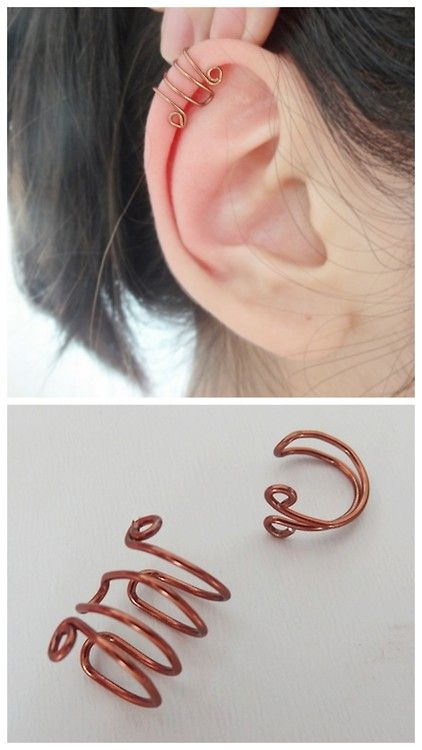DIY Basic Wire Ear Cuff Tutorial -- perhaps I could wear these