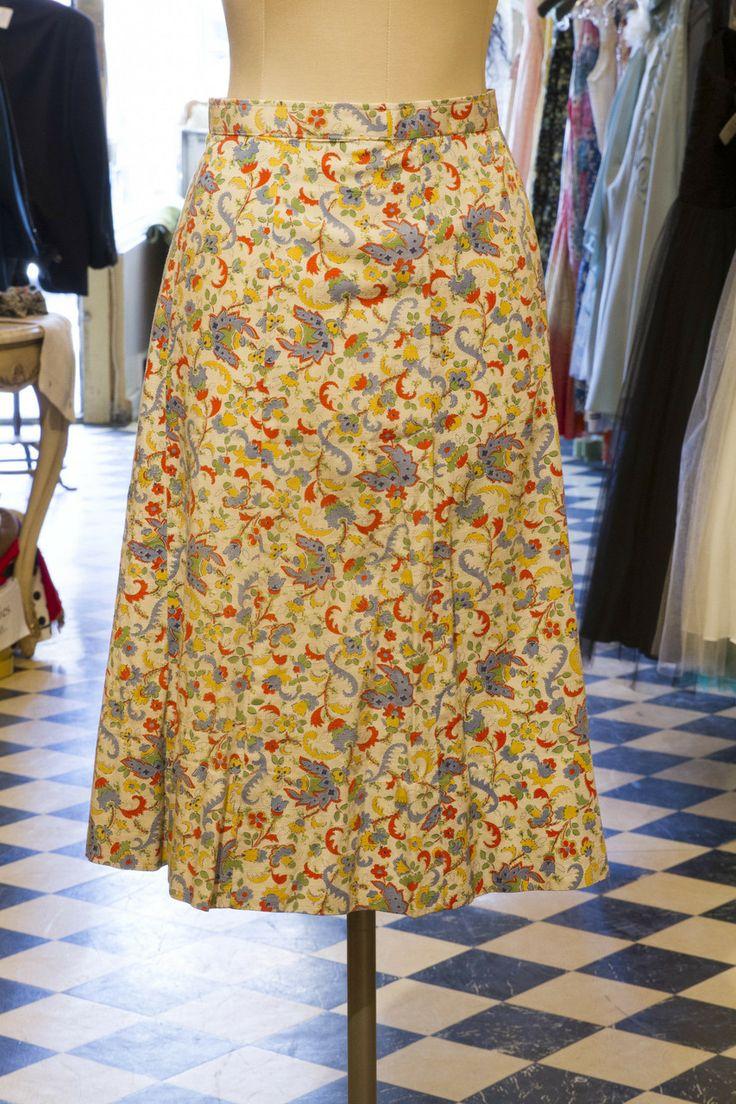 Cabaret Vintage - Vintage Ladies Pattern Skirt, $125.00 (http://www.cabaretvintage.com/vintage-skirts/vintage-ladies-pattern-skirt/)  #vintageskirt  #vintage #dressvintage #shopping #vintagestore #vintagefashion #ilovevintage #vintagelove #vintagegirl #vintageshopping #vintageclothing #vintagefinds #vintagelover #vintagelook #followme #skirtoftheday #ootd #shopitrightnow #instastyle #torontovintage #toronto #queenwest #cabaretvintage