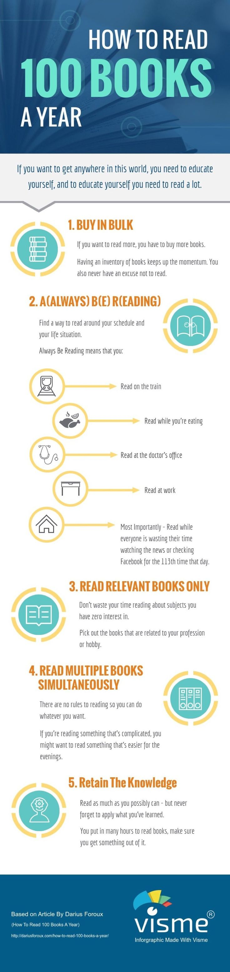 5 Tips That Will Help You Read 100 Books A Year (infographic)