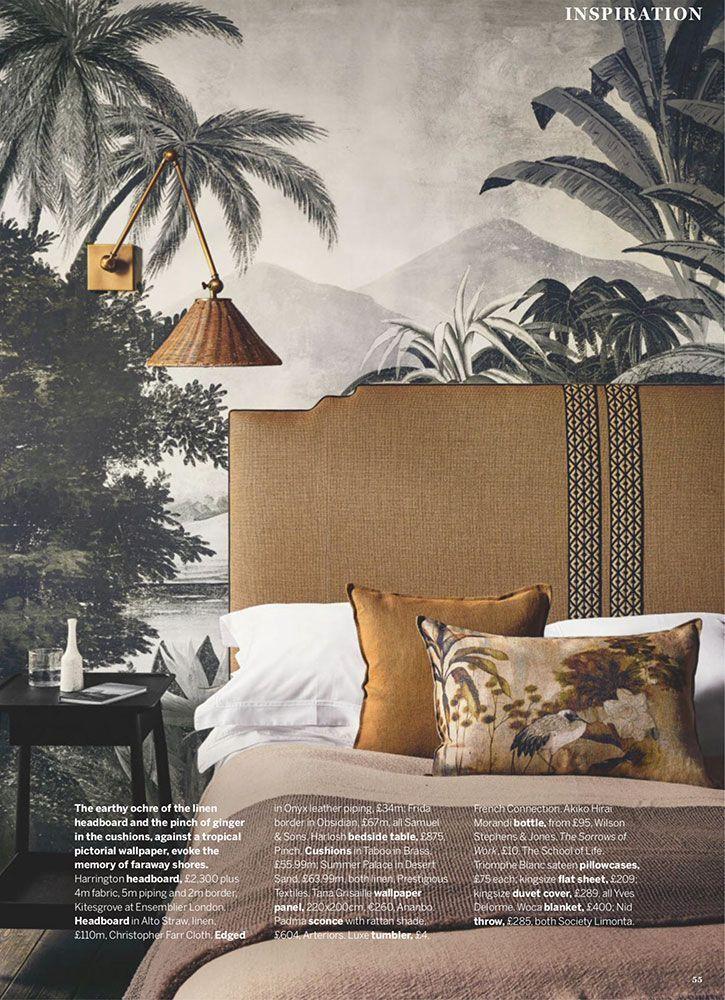 The Retro Stylish Renovation Of Rca Studio By Anderson Design Studio Home Wallpaper Wallpaper Bedroom Bedroom Interior