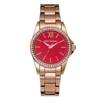 Mark Maddox - Ladies Pink Gold Stainless Steel Watch - MM3015-77 - Online Price: £79.95