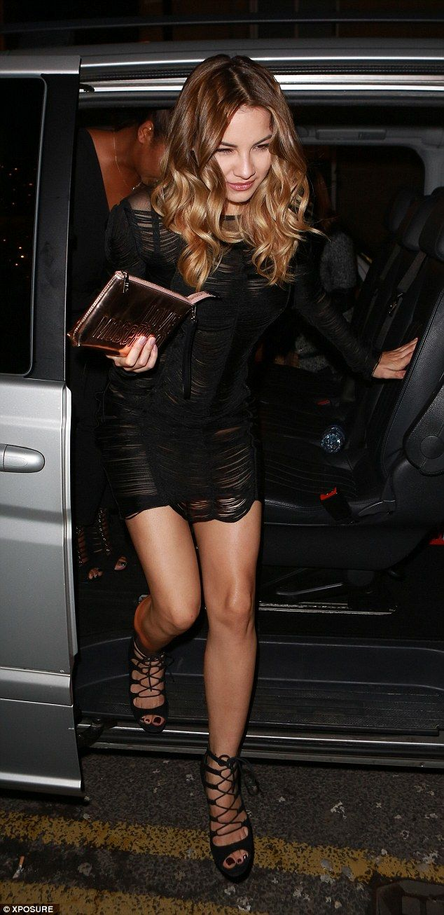 Tan-tastic: There seemed to eb a huge amount of fake tan among the party-goers at the week...