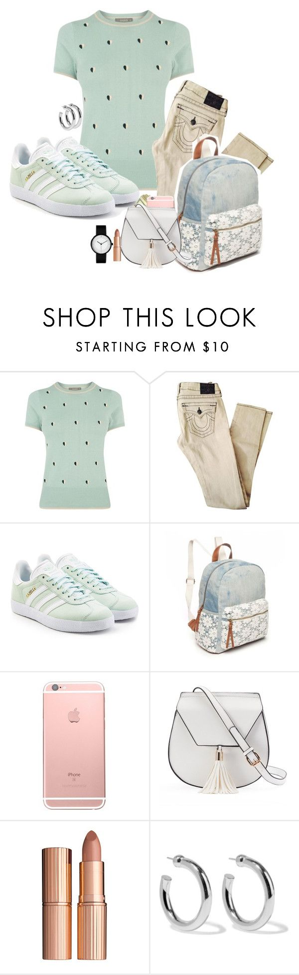 """[199.] Real bad bad b*tch, ain't gotta Photoshop it."" by theristerrr ❤ liked on Polyvore featuring Oasis, adidas Originals, Red Camel, Yoki, Charlotte Tilbury and Sophie Buhai"