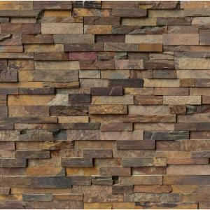 MS International California Gold Ledger Panel 6 in. x 24 in. Natural Slate Wall Tile (5 cases / 20 sq. ft. / Pallet)-LPNLSCALGLD624 at The Home Depot