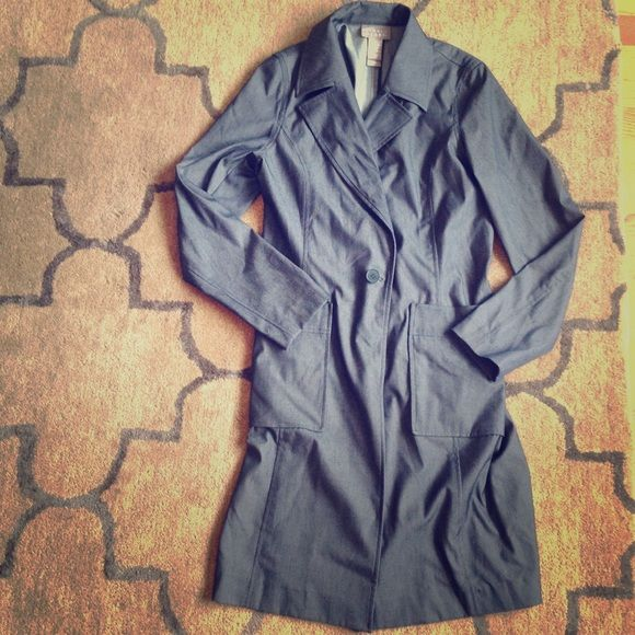 Designer Trench Coat Hardly worn, very cute and fashionable Sigrid Olsen Jackets & Coats Trench Coats