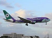 AeroSur, Boeing 767-284/ER, Miami - International, Florida, December 4, 2011, Ben Wang