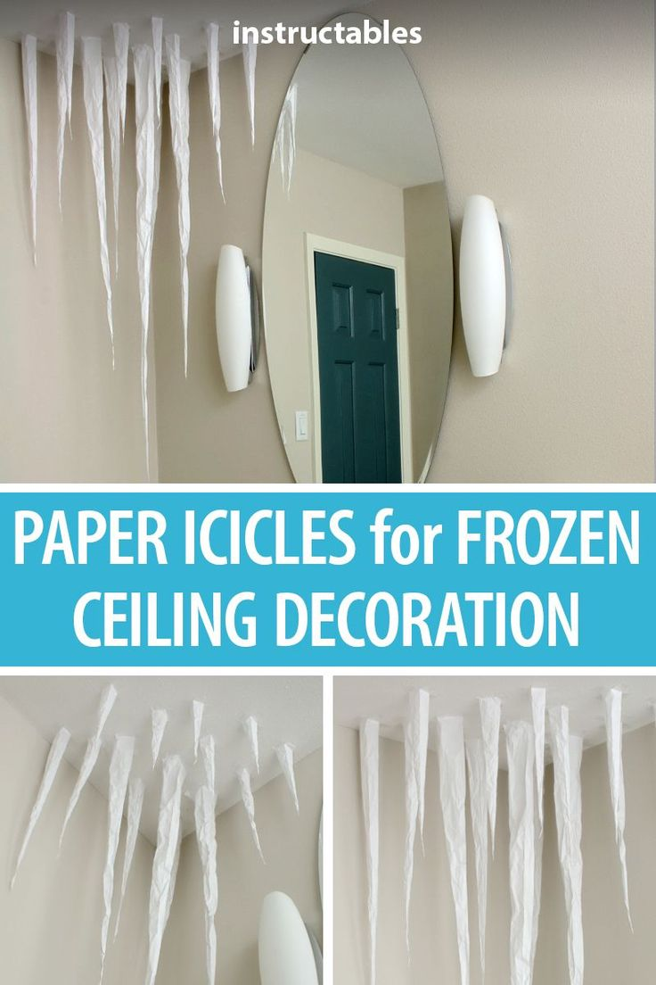 Paper Icicles for Frozen Ceiling Decoration