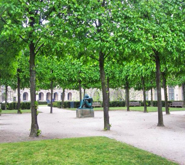 Gardens at the Louvre Museum in Paris, France