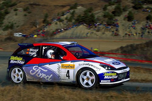 2002 MONTE CARLO RALLY - Ford Focus RS WRC '02 (Y6 FMC). Entrant: Ford Motor Co. Drivers: Carlos Sainz (E) / Luis Moya (E). Place: 3rd o/a.