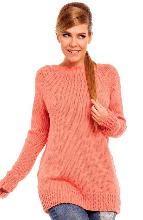 Lemoniade Fergie sweter łosoś Elegancki sweter damski dostepny w bogatej gamie kolorów