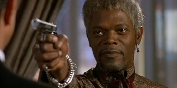 """Samuel L Jackson as a Don King type fight promoter in """"The Great White Hype"""" (1996)"""