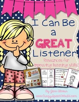 Resource pack to reinforce whole body listening.  Interactive book, visuals, and student activities!