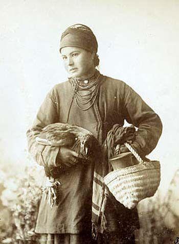 Казачка Явдоха. Украинцы. Фотоархив РЭМ