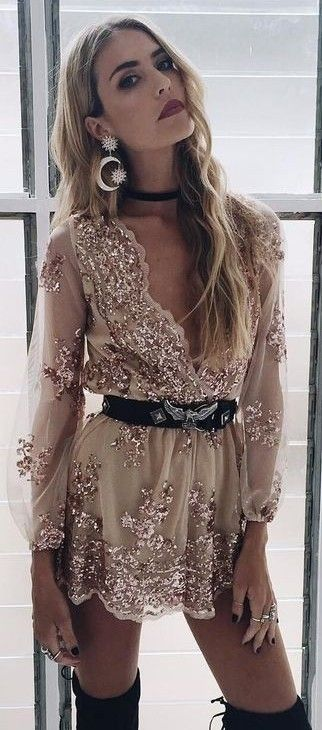 Golden Embellished Romper                                                                             Source