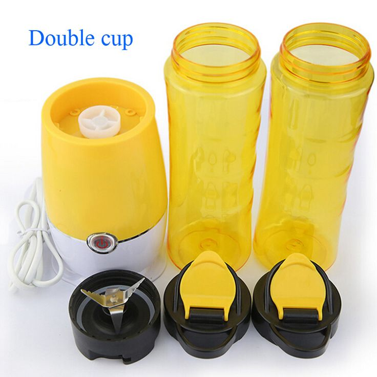 VOSOCO fruit juice machine Single/Double cup small juicer Shake n Take 3 generation portable juicer Yellow Violet Green Blue