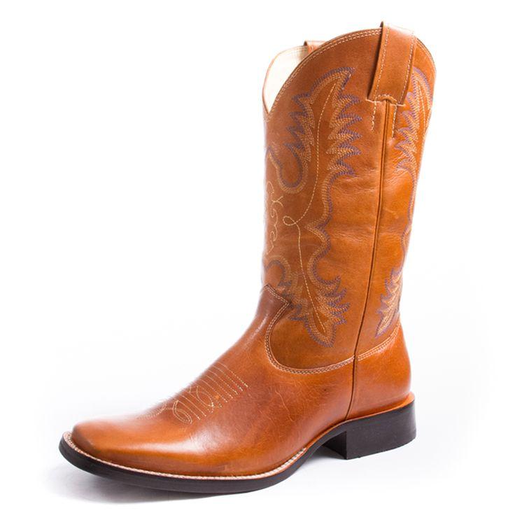 Bota Classic Bico Quadrado Couro Atlantic Solado Flex Gel Costura Dupla  bota Classic bico quadrado,couro liso. Pé e Cano na cor Atlantic.Cano com costuras perfeitas nas cores azul,cru e laranja, que dão um efeito especial na bota. Solado de borracha com palmilha em gel. Produto de alta qualidade e durabilidade. Muito indicado para os amantes do estilo country, cowgirls e cowboys de bom gosto, que exigem exclusividade.