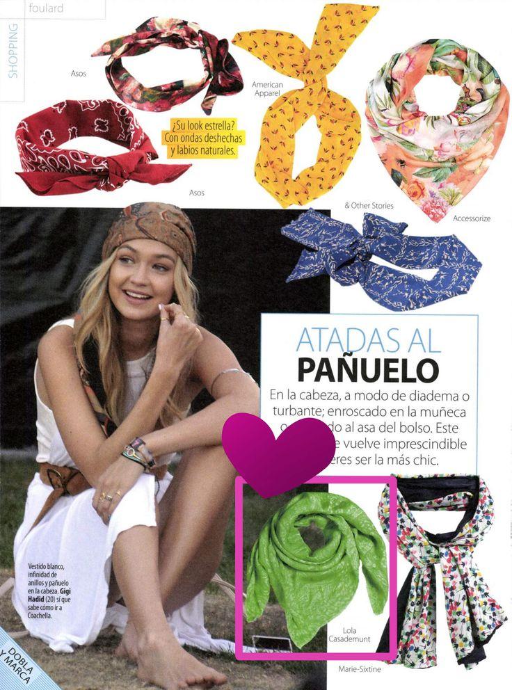 NEWS!  En la revista Stilo Shoes & Bags los looks más chic para este verano con pañuelos de LOLA CASADEMUNT ❤ 