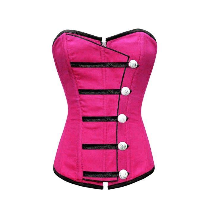 Corsé rosado con botones | Corsés Baratos