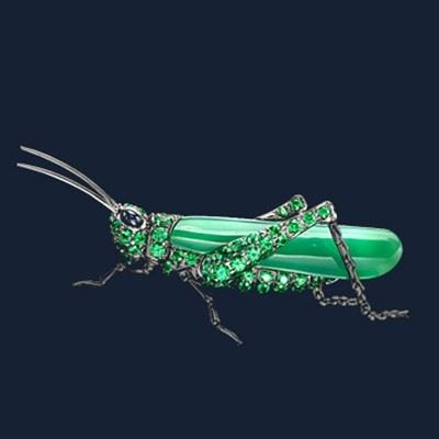 George Tarratt | Grasshopper Brooch: