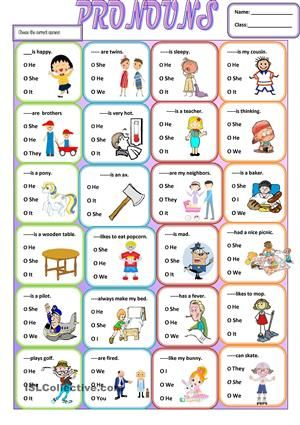 17 Best images about personal pronouns on Pinterest | English ...