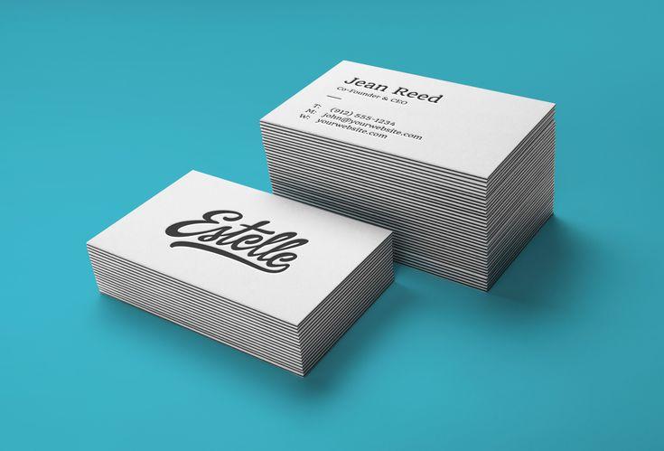 Stack Letterpress Business Cards MockUp | GraphicBurger
