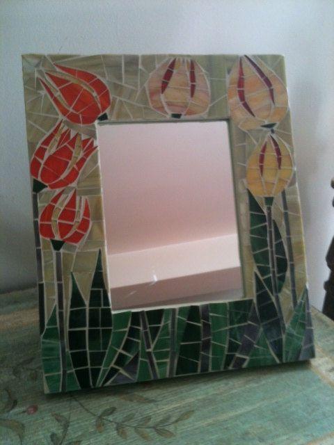 Specchio da tavolo realizzato su supporto in di LelucciolediPapi, €85.00